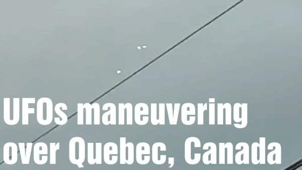Ovnis brillantes cambiando de forma en Quebec, Canadá 2-nov-2020