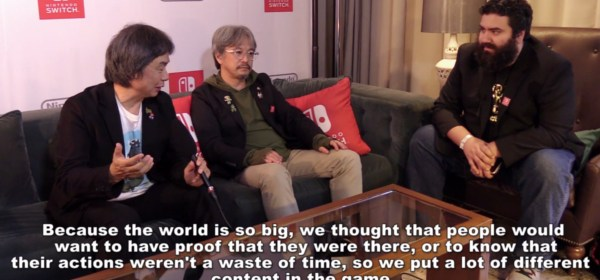 Miyamoto y Aonuma hablan de Breath of the Wild en una entrevista con That One Video Gamer.