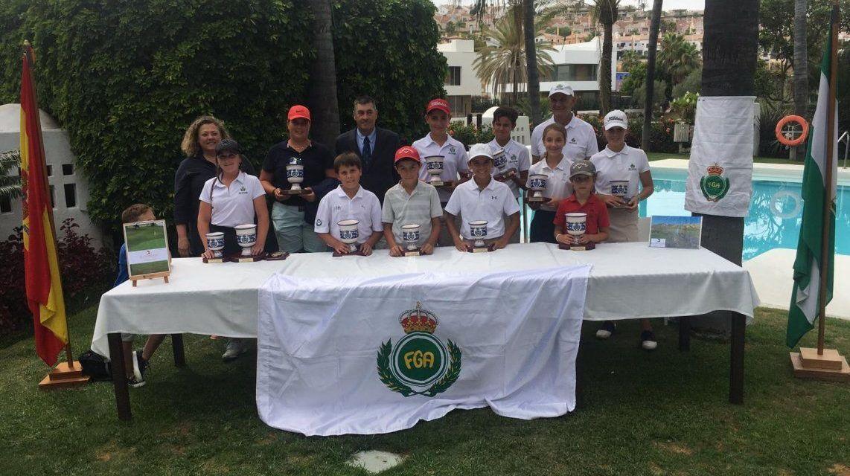 Alberto Baños, Lucía Morales y Francisco Javier Gómez, se imponen en los Campeonatos de Andalucía Sub16 y Benjamín de Pitch and Putt en El Campanario