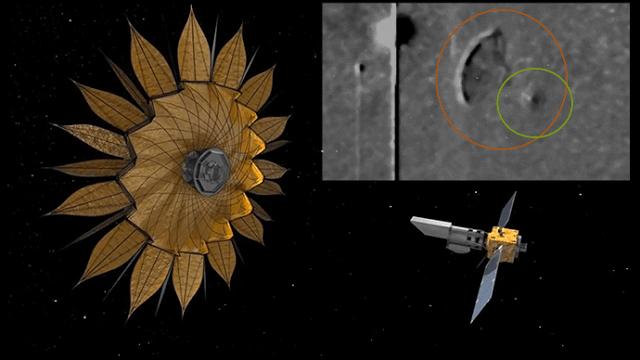 ¿La Gigantesca Nave Captada por la NASA es el Telescopio Espacial Starshade Lanzado en Secreto?