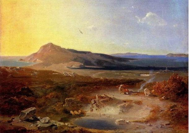 La isla de Delos, por Rottmann