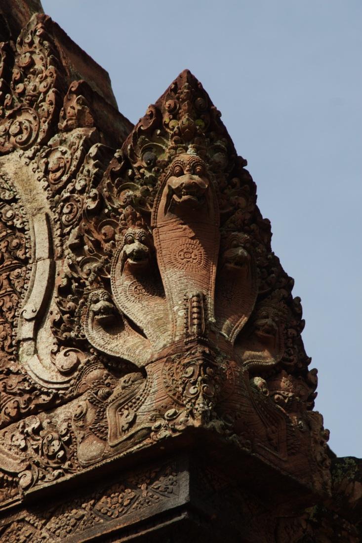 Detalle Serpiente. Banteay Srei 11