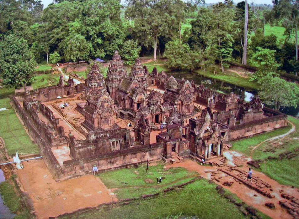 Vista aérea. Banteay Srei 15