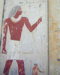 pintura con restos bajo el brazo