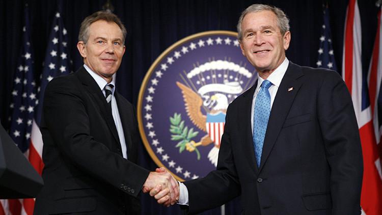 Resultado de imagen de Filtración: Bush y Blair acordaron invadir Irak un año antes de que comenzara la guerra