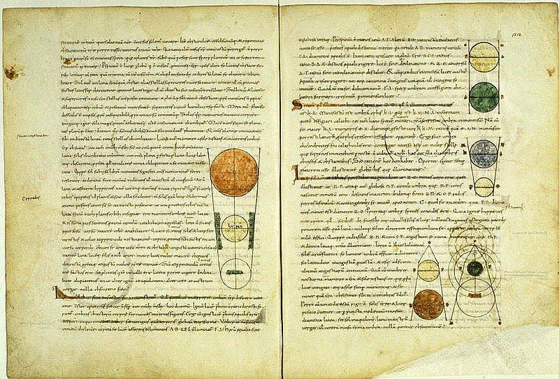Manuscrito medieval de una traducción al latín del Timeo de Platón realizada por Calcidio. Biblioteca Vaticana (Public Domain)