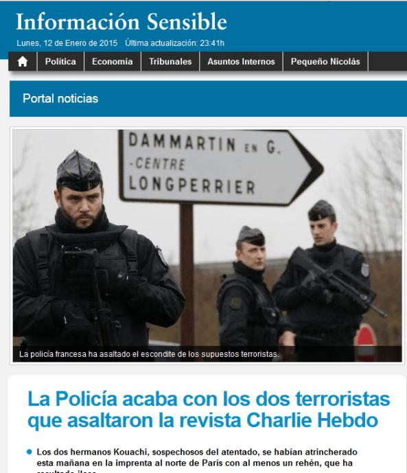 captura info sensible 2 terrorists 1 - LA MANIPULACIÓN DE LOS MEDIOS DE COMUNICACIÓN EN EL TIROTEO DE PARIS