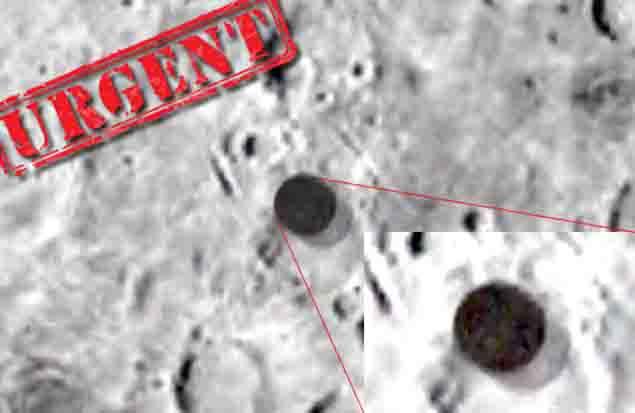 disco extraterrestre luna alienigena - Un Ovni gigantesco es grabado sobre la Luna