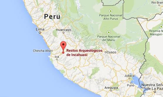 El muro inca fue descubierta en Incahuasi