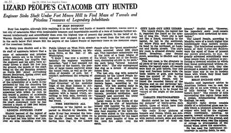 ocultaron una ciudad subterranea de reptilianos descubierta en los angeles en 1934 2 - Ocultaron una ciudad subterránea de reptilianos descubierta en los ángeles en 1934?