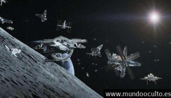 Una flotilla de naves espaciales fue avistada por un astrónomo amateur