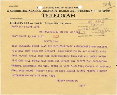 En 1924 la Armada de EE.UU. mandó a escuchar radioemisiones extraterrestres
