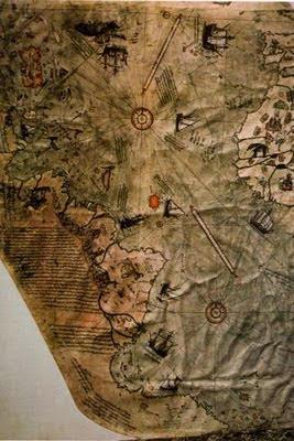 mapa piri reis - Enigmas Antárticos: el mapa de Piri Reis