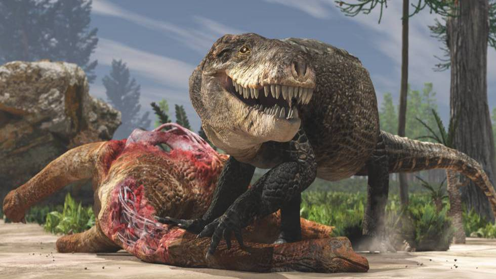 Razana, el cocodrilo gigante del periodo jurásico con dientes de Tiranosaurio Rex.