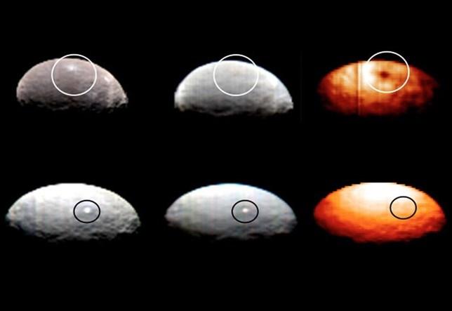 Aumentan a diez los misteriosos puntos brillantes en el planeta enano Ceres