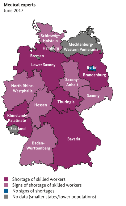 العمل في ألمانيا للأطباء وأطباء الأسنان والصيادلة والممرضين