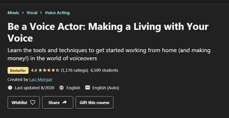 كورس Be a Voice Actor: Making a Living with Your Voice