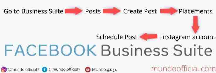 استخدام Business Suite الموجودة في الفيس بوك Facebook لجدولة منشورات الانستقرام