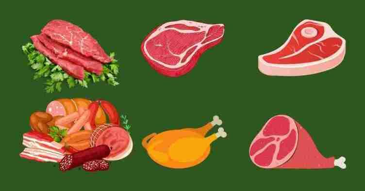 اللحوم باللغة الكورية