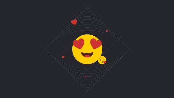 emoji apaixonado cheio de amor para demonstrar