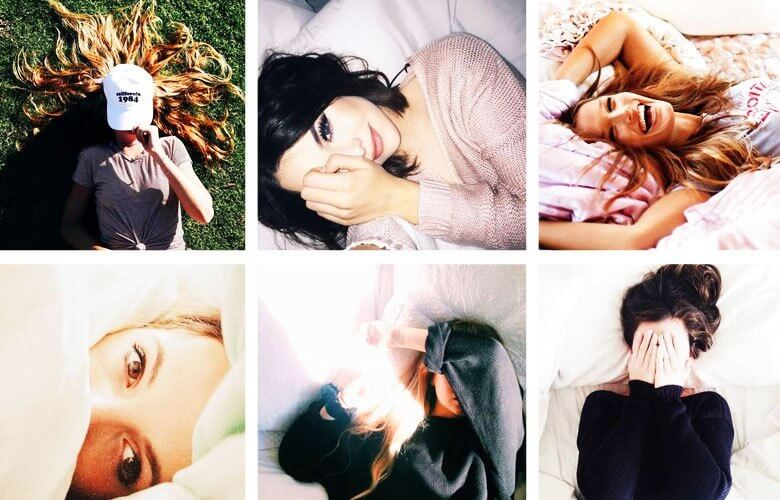 selfies sozinhas estilo tumblr