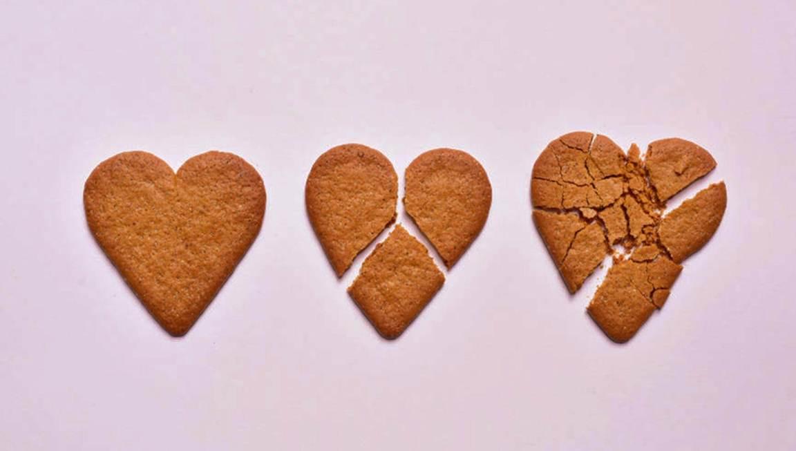 três corações partidos ao longo do tempo