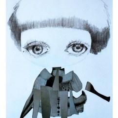 """""""N°15: Niebla"""" de la serie Estados Capitales -AÑO: 2019 -TIPO DE OBRA : Grafito y collage. -INFO TÉCNICA: Reproducción lámina tamaño A3 -LUGAR DONDE FUE EXHIBIDO: La obra original fue exhibida en Fábrica de Artistas en @espaciosbalux, CABA, Argentina."""