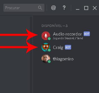 usuádios bots inseridos no servidor