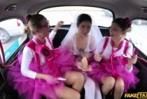 FakeTaxi – Lady D – Hen party gets wild in Prague taxi