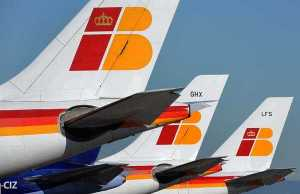 Iberia And BA Airlines At Madrid Airport