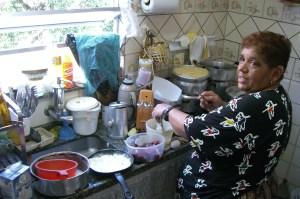 Dona Luzia Cooks a meal for Volunteers