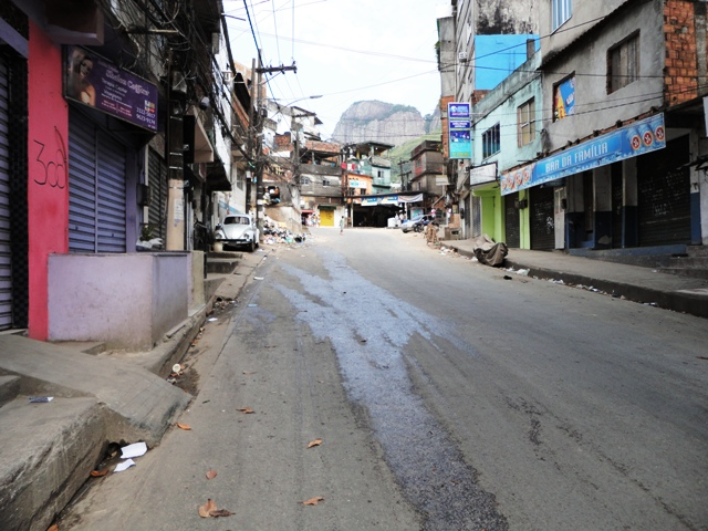 Rocinha's Empty Streets
