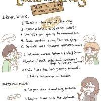 Juego de beber de The Lord Of The Rings