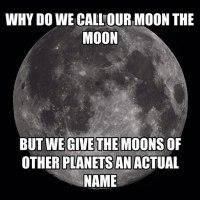 ¿Nuestra Luna se llama Luna?