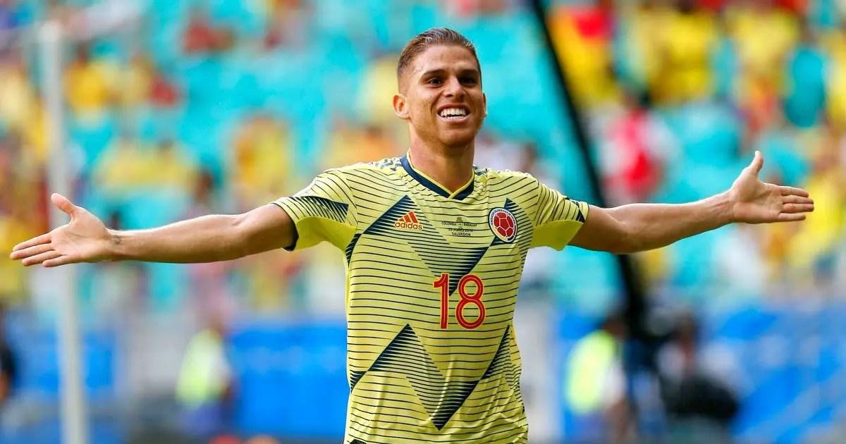 Autor do gol da vitória da Colômbia, Cuéllar afirma que seu foco é a seleção e o Flamengo
