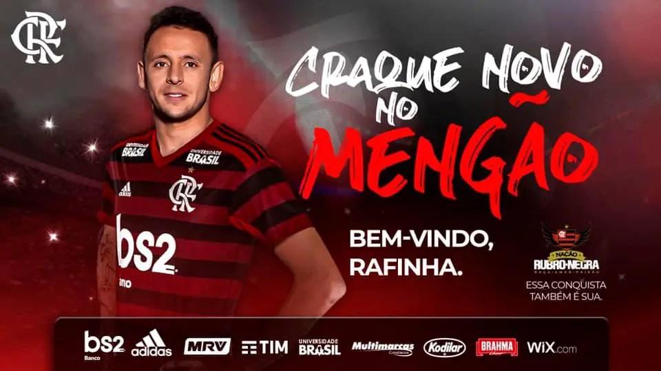 Com a camisa 13, Rafinha chega ao Rio na segunda e será apresentado na terça