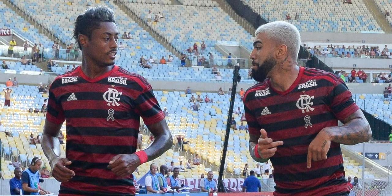"""Dupla """"Gabigol e BH"""" ultrapassa números de gols de Vasco, Botafogo e outros 10 clubes no Brasileirão"""