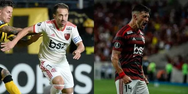 """2009x2013x2019: """"Arrasca"""" e Ribeiro vencem Pet e companhia, e são eleitos os meias dos últimos anos do Flamengo"""