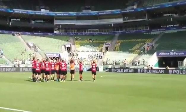 Flamengo debocha de torcida única e aplaude setor vazio no Allianz Parque; assista