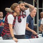 Ao lado de Jesus e Deus, Gabigol e Filipe Luís vibram com vaga do Flamengo na final