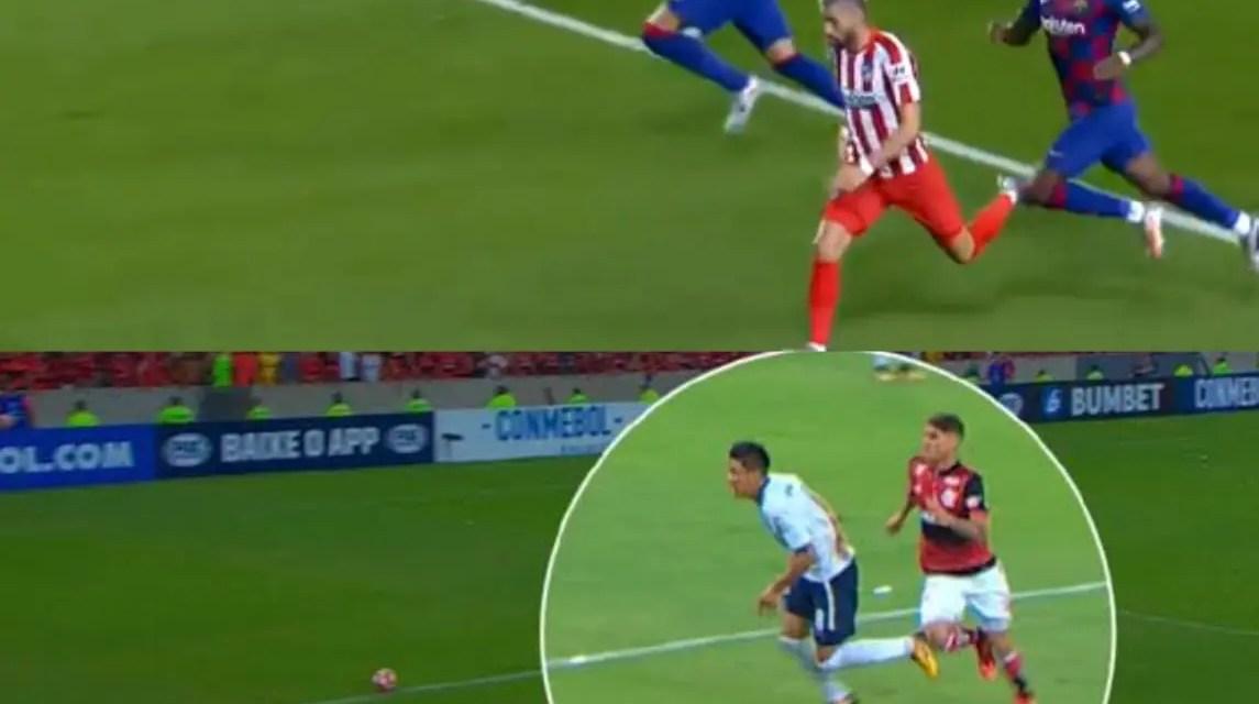 Web compara pênalti de jogo do Barcelona ao de Cuellar em Meza, na final entre Flamengo e Independiente