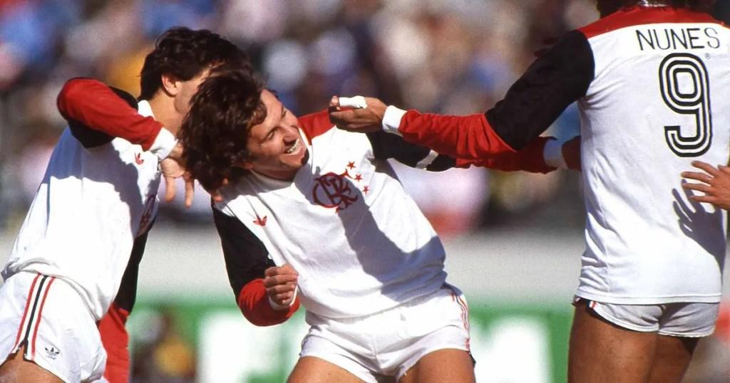 camisa do flamengo zico 1981 libertadores