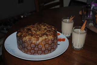 Comida oferecida ao Viejito Pascuero no Chile