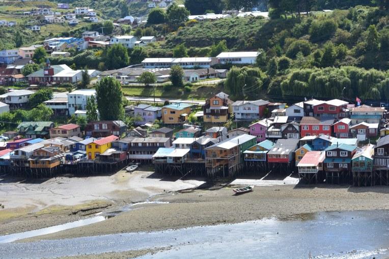 Casas de palafita em Chiloé
