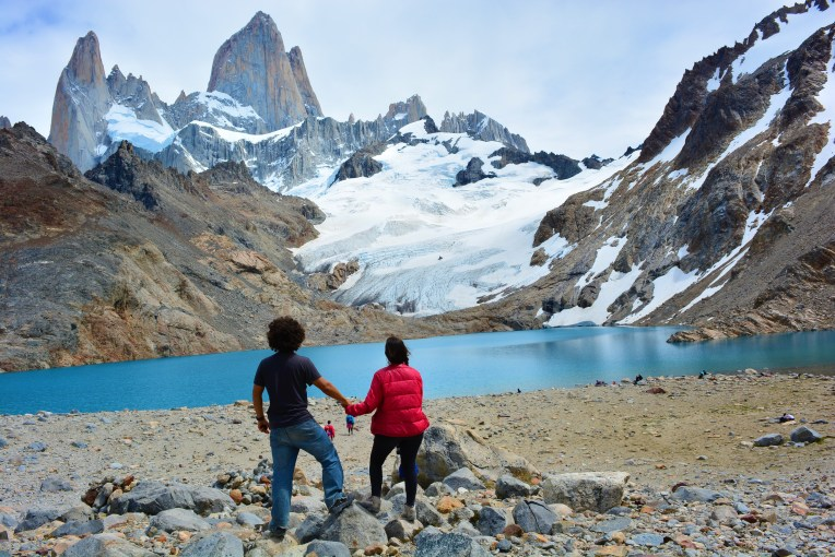 Cerro Fitz Roy, no Parque Nacional Los Glaciares, El Chaltén, Argentina.
