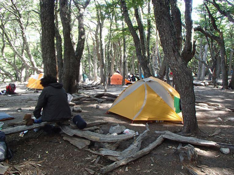 Acampamento dentro do Parque Nacional Los Glaciares
