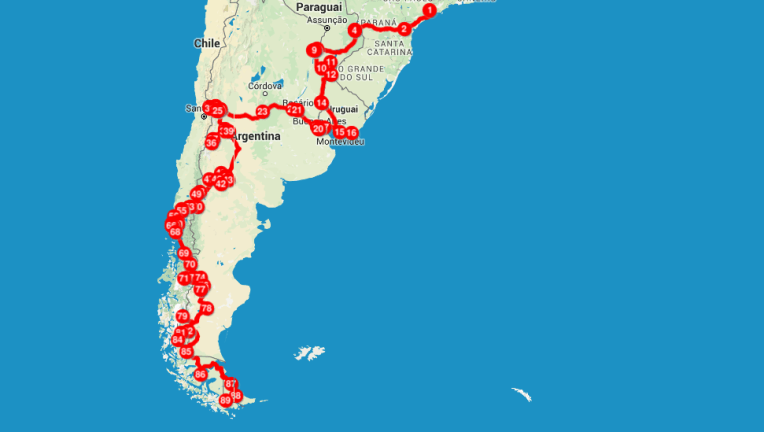 Percurso que viajamos com 10 mil reais