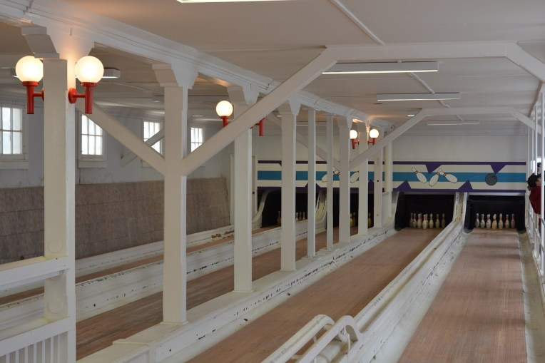 Antiga quadra de boliche de Sewell