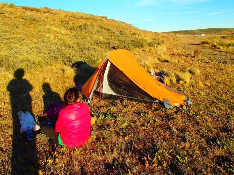 Acampando na Tierra del Fuego, Chile