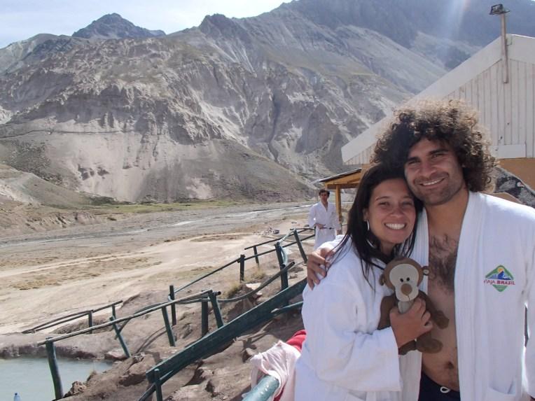 Baños Colina, no tour do Cajón de Maipo